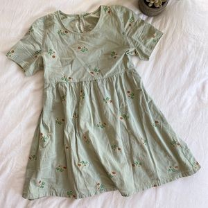 Boutique Babydoll Blouse/Dress (soft green)
